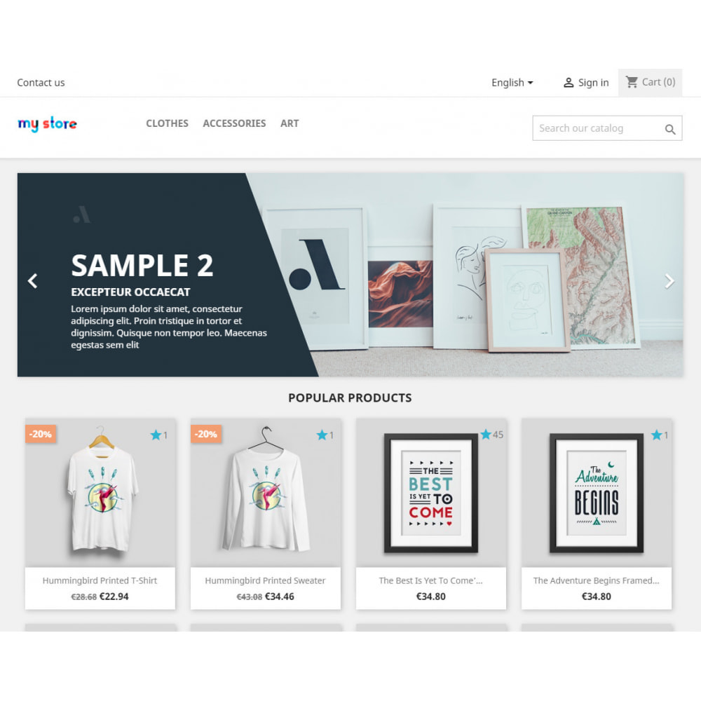 module - Opiniões de clientes - Counter and list of liked products - 1