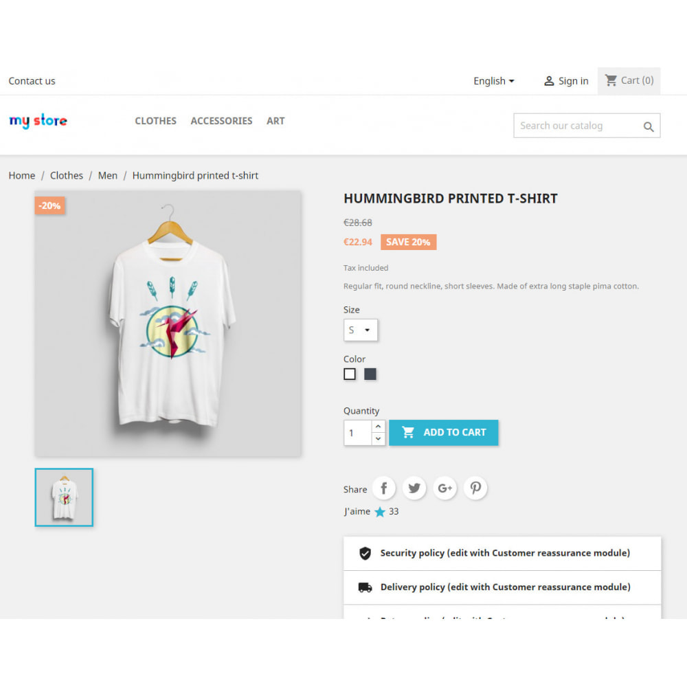 module - Opiniões de clientes - Counter and list of liked products - 2