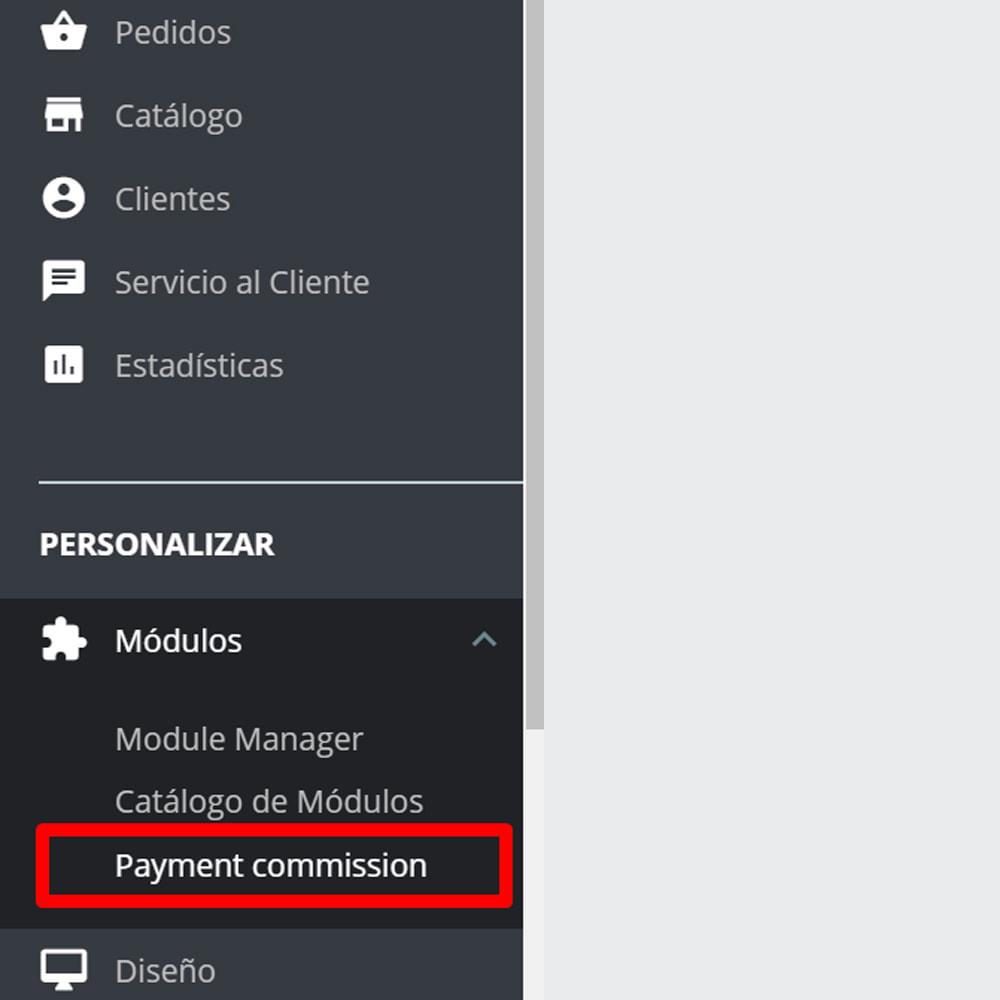 module - Pago a la Entrega (contrarrembolso) - Comisión de los métodos de pago Pago con tarifa - 9