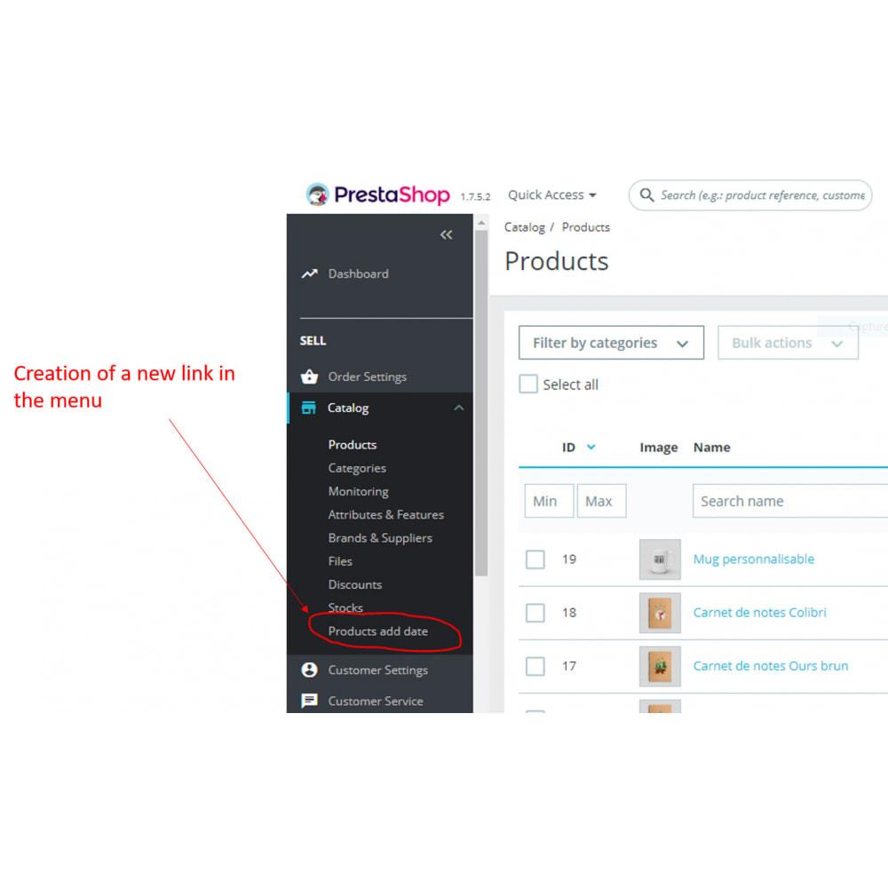 module - Bijkomende Informatie - Product Date - 2