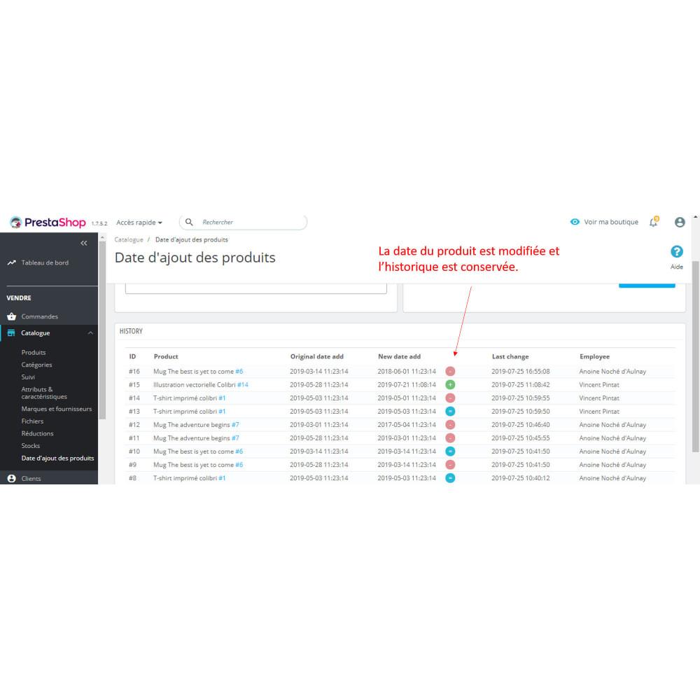 module - Information supplémentaire & Onglet produit - Date création produit - 5