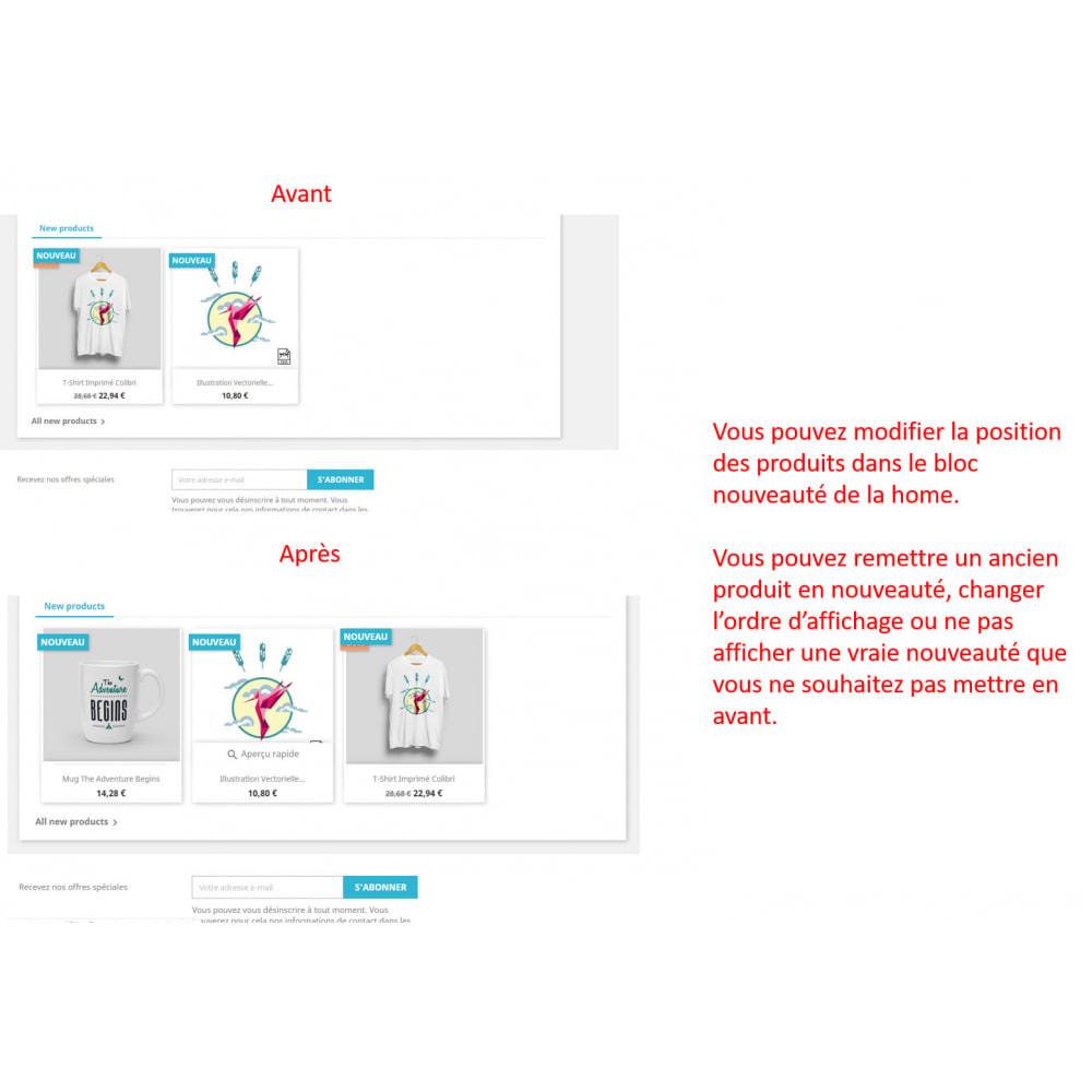 module - Information supplémentaire & Onglet produit - Date création produit - 6