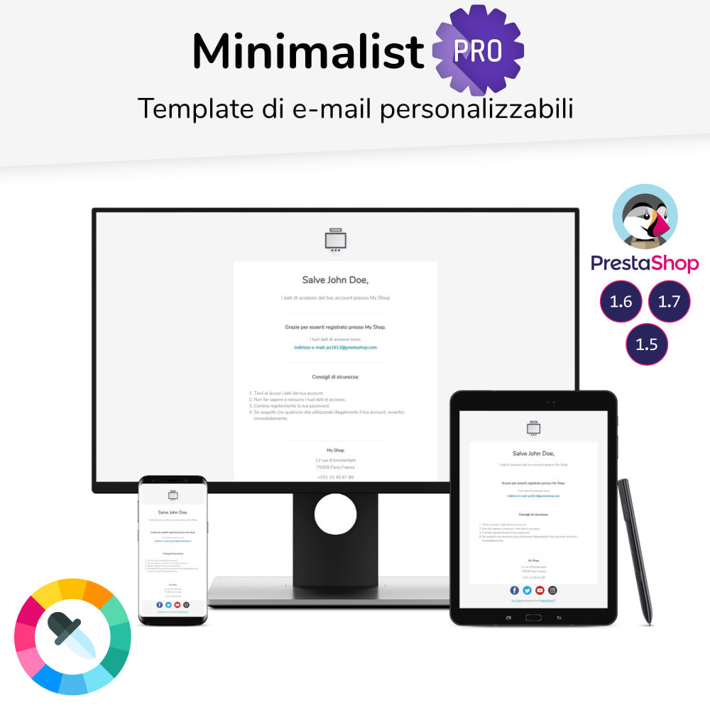 email - Template di e-mail PrestaShop - Minimalist Pro - template di e-mail - 1