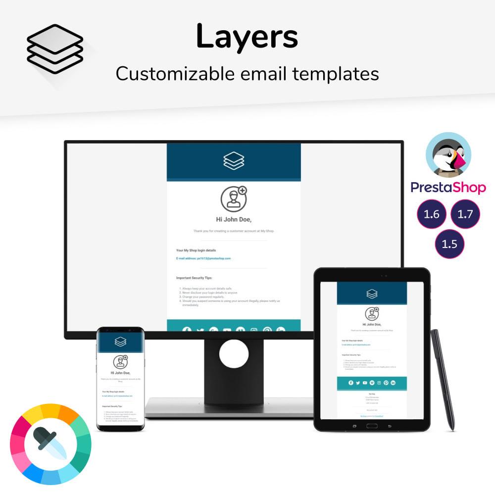 email - E-mailtemplates van PrestaShop - Layers - Email templates - 1