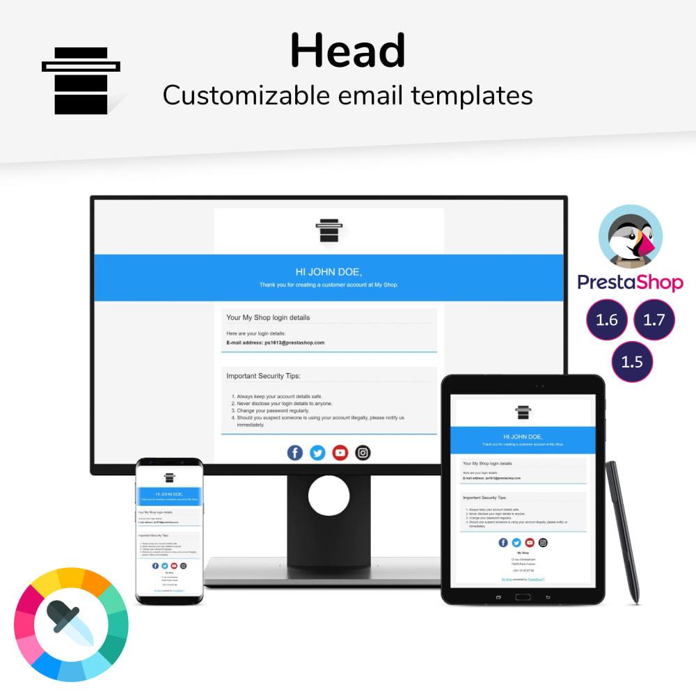 email - Modelos de e-mails da PrestaShop - Head - Email templates - 1