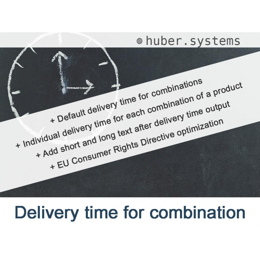 module - Versies & Personalisering van producten - Delivery time for combinations - 1