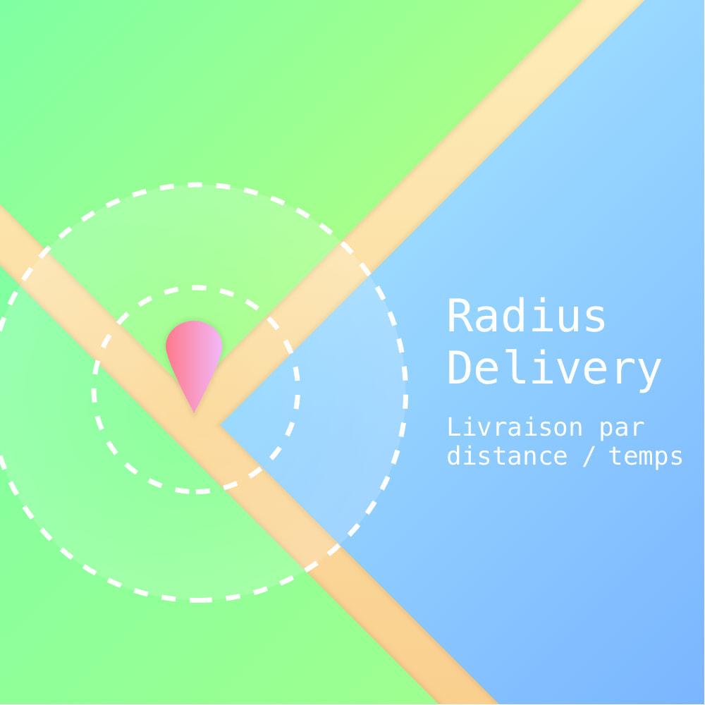 module - Transporteurs - RadiusDelivery : Livraison par temps et distance - 1