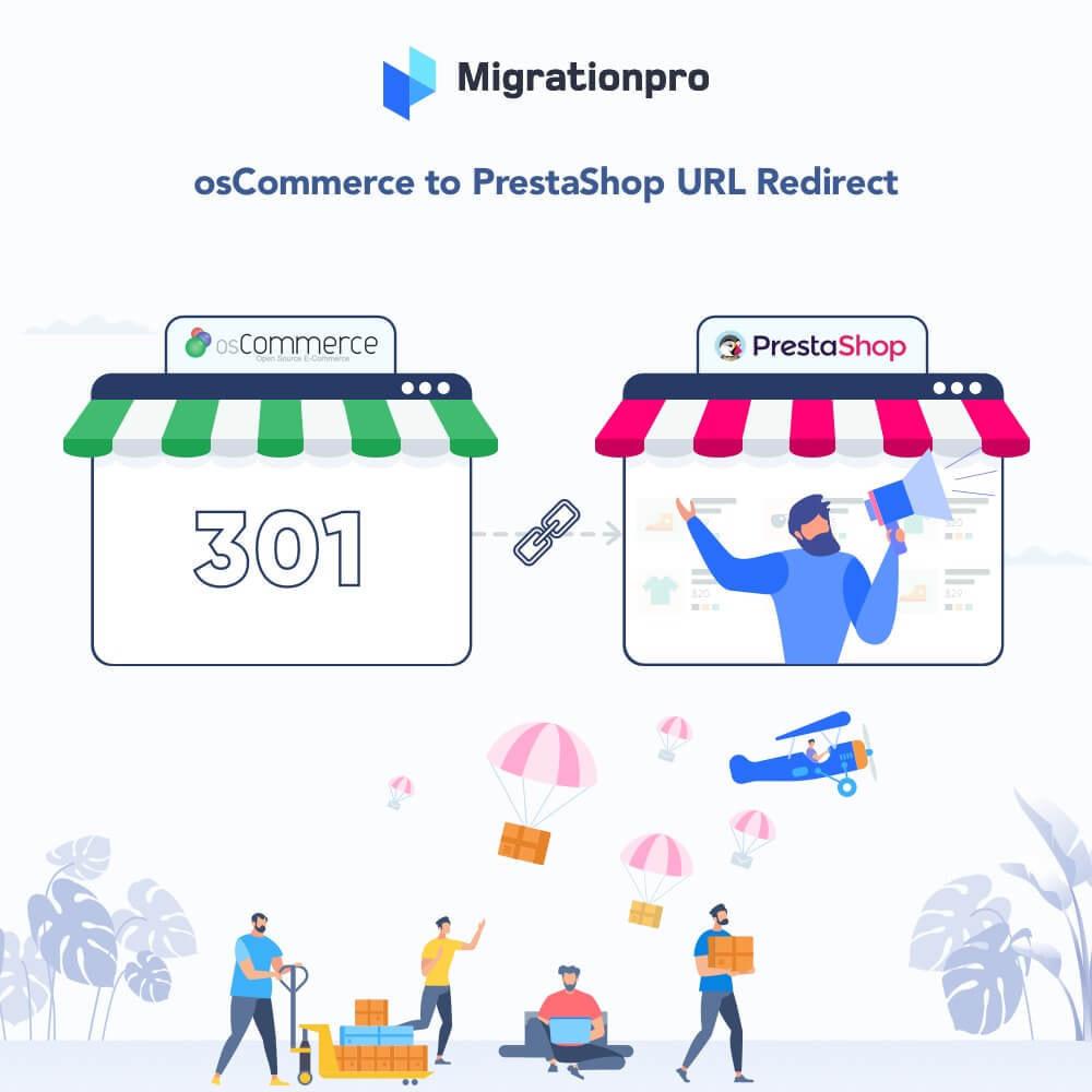 module - Migratie & Backup - MigrationPro: osCommerce to PrestaShop SEO Redirect - 1