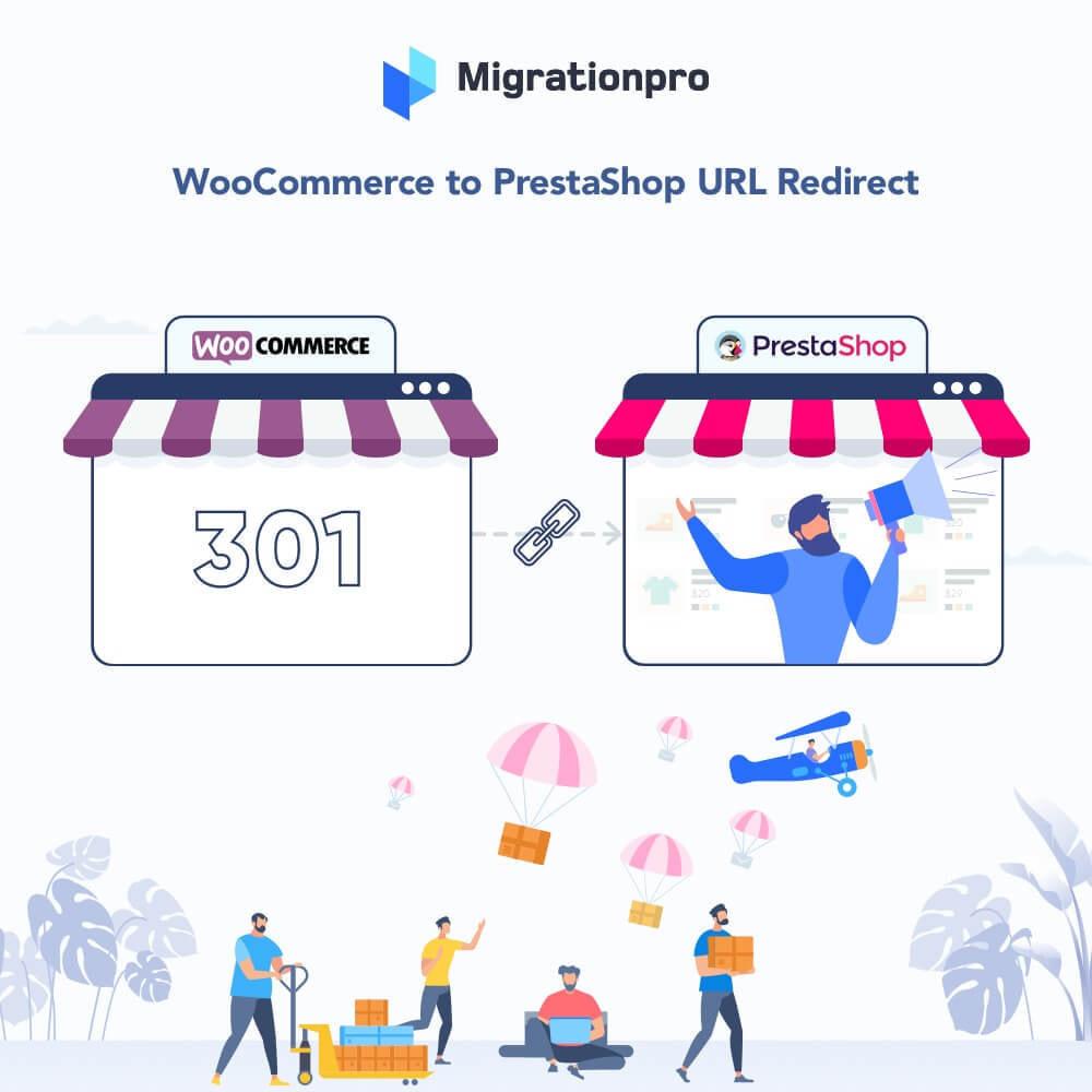 module - Migration de Données & Sauvegarde - MigrationPro: WooCommerce To PrestaShop SEO Redirect - 1