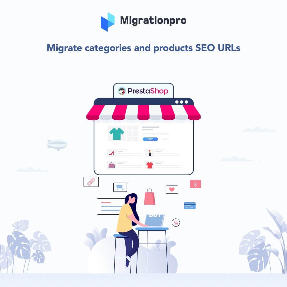 module - Migration de Données & Sauvegarde - MigrationPro: WooCommerce To PrestaShop SEO Redirect - 2