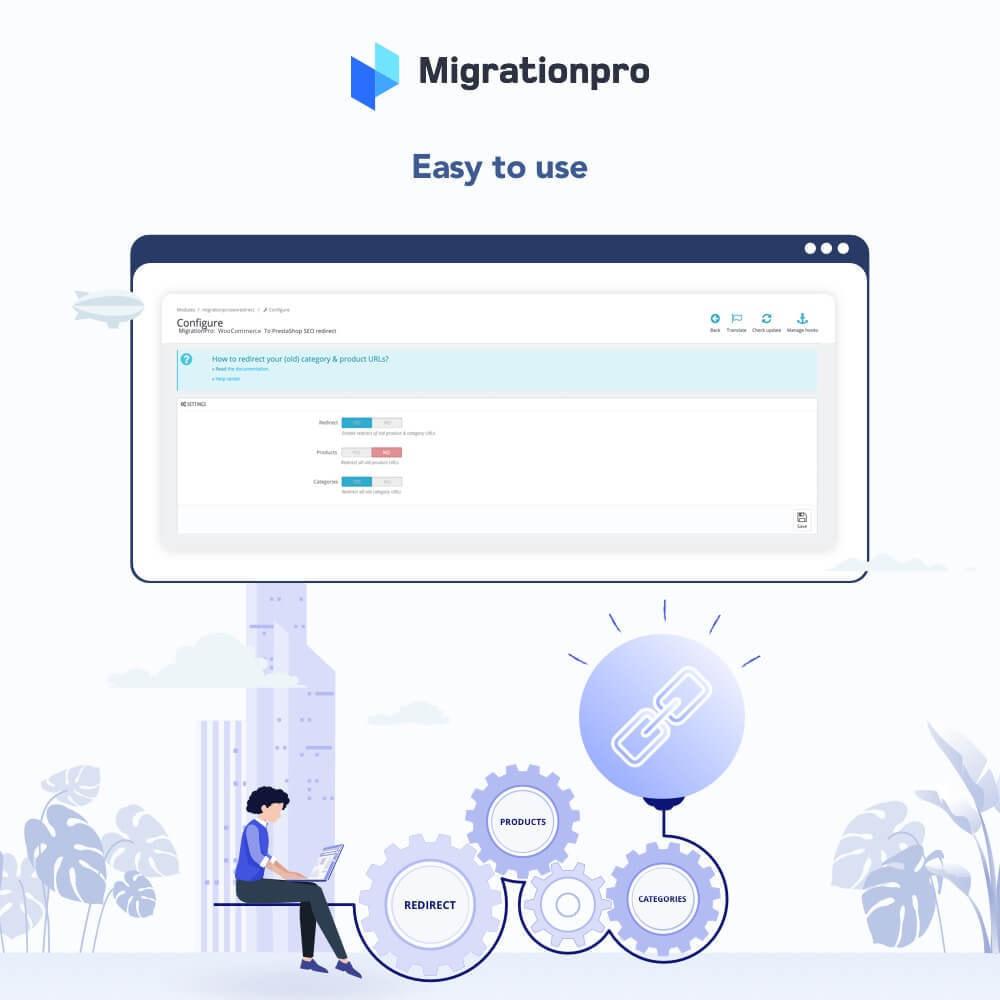 module - Migration de Données & Sauvegarde - MigrationPro: WooCommerce To PrestaShop SEO Redirect - 3
