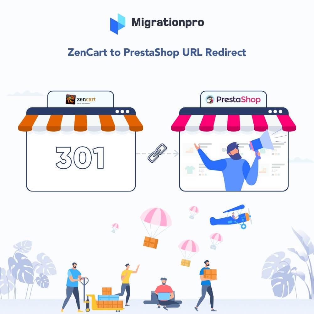 module - Migracja & Backup - MigrationPro: Zen Cart To PrestaShop SEO Redirect - 1