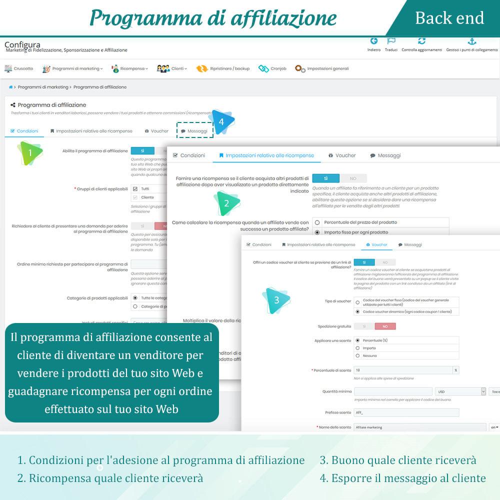 module - Programmi fedeltà & Affiliazione - Progr. Fedeltà, Segnalazione e Affiliato (punti premio) - 14