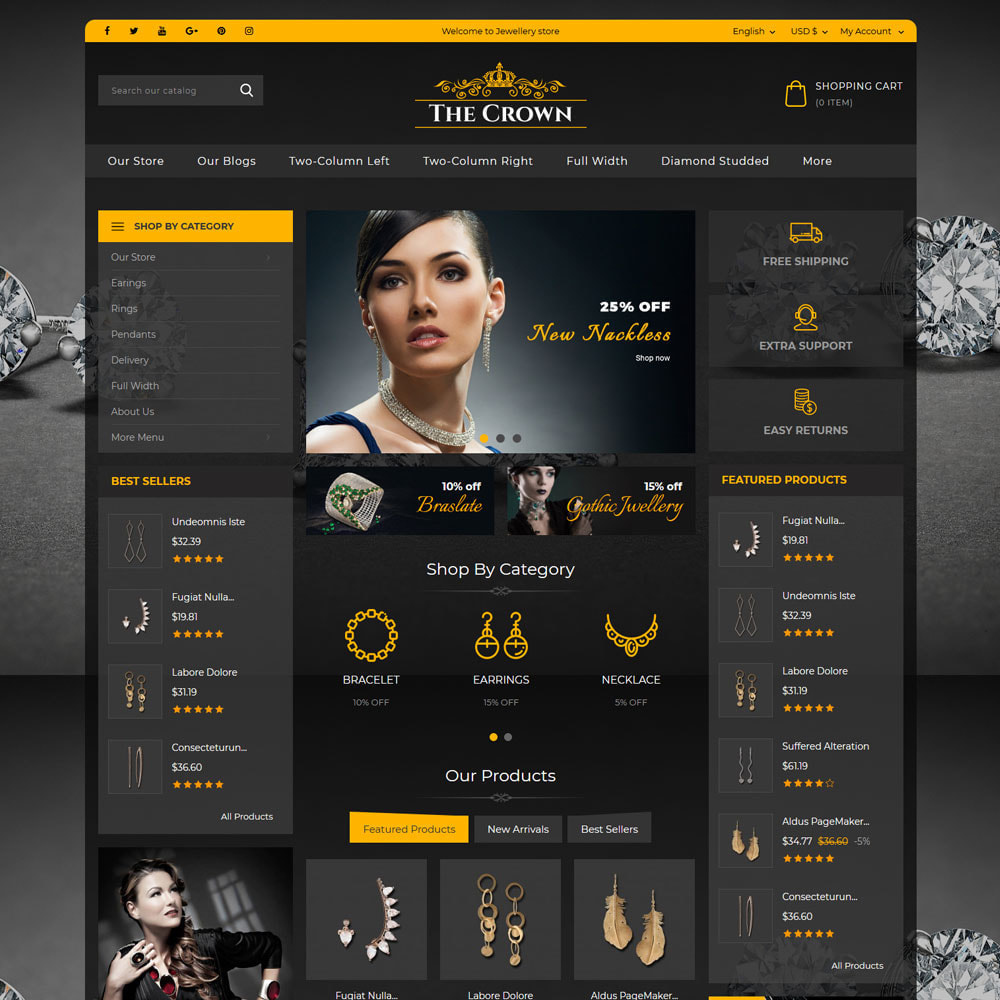 theme - Sieraden & Accessoires - Crown - The Jewellery Store - 3