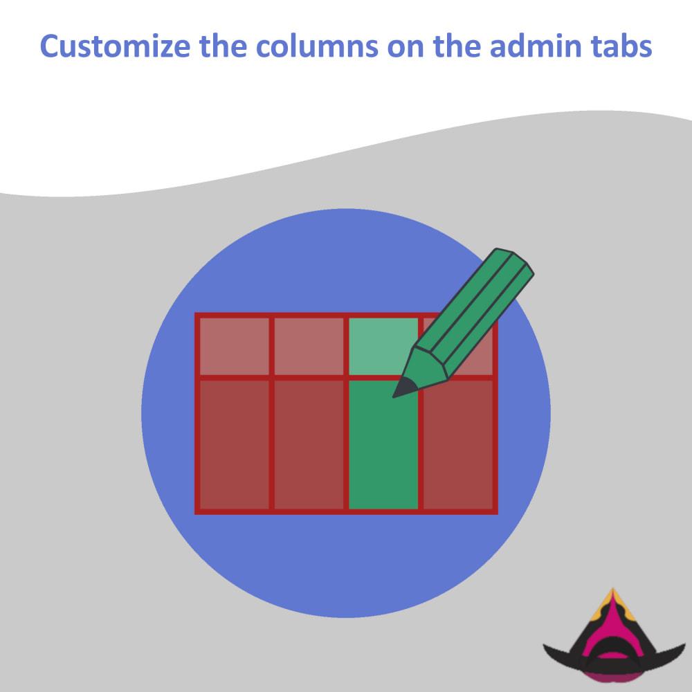 module - Ferramentas de Administração - Customize the columns on the admin lists - 1