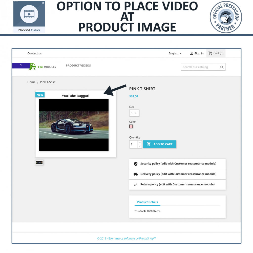 module - Videos & Music - Product Videos - YouTube, Vimeo   Upload or Embed - 3