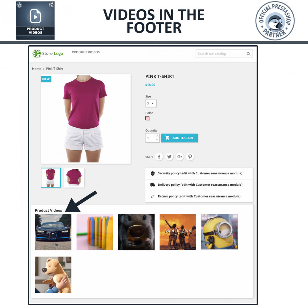 module - Videos & Music - Product Videos - YouTube, Vimeo   Upload or Embed - 6