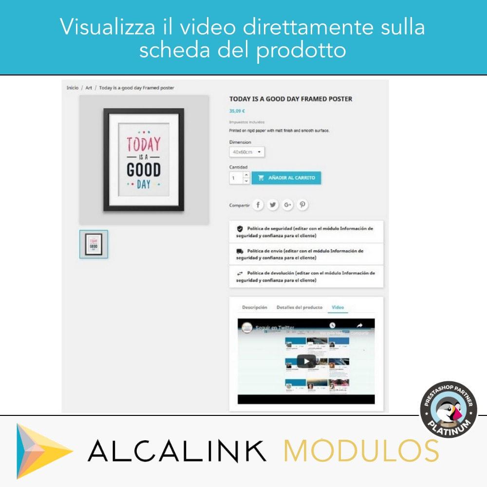 module - Video & Musica - Video nel schede del prodotto - Youtube, Dailymotion... - 5