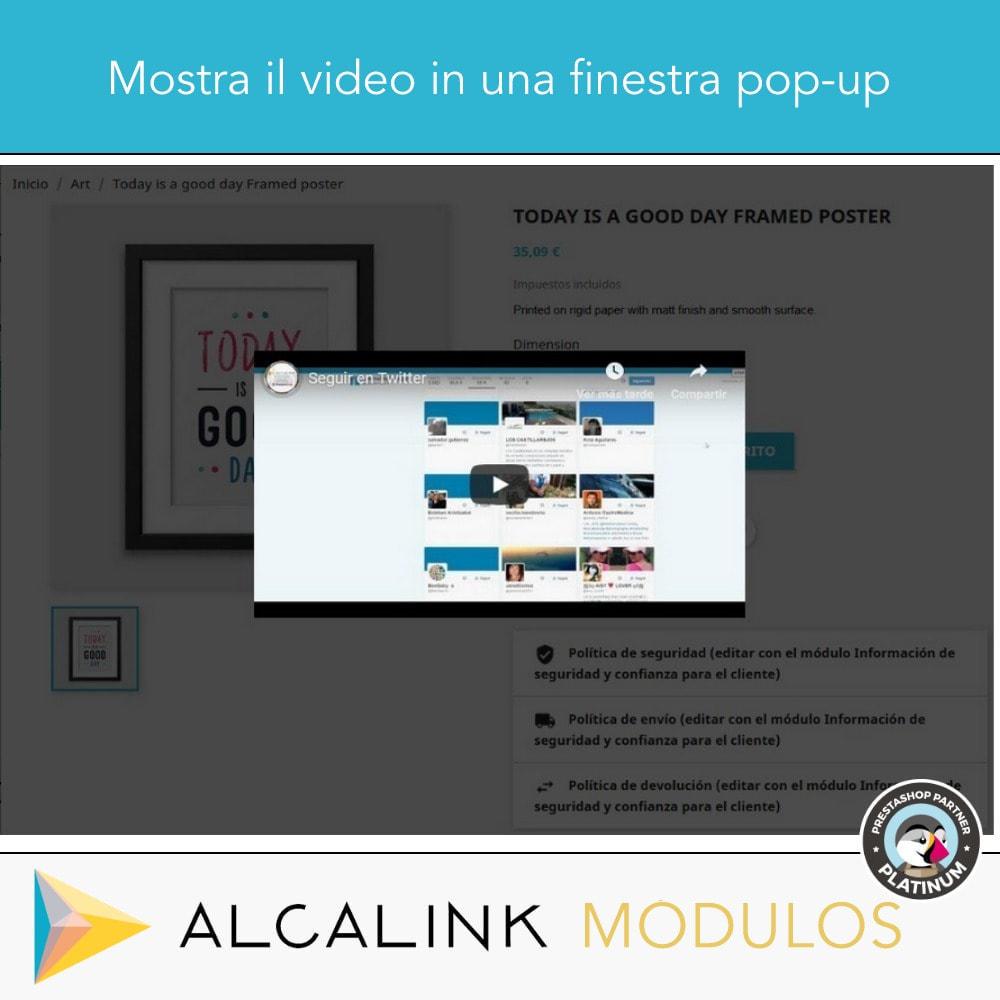 module - Video & Musica - Video nel schede del prodotto - Youtube, Dailymotion... - 6