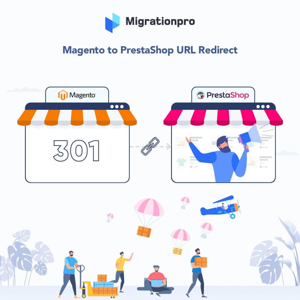 module - Migration de Données & Sauvegarde - MigrationPro: Magento to PrestaShop SEO Redirect - 1