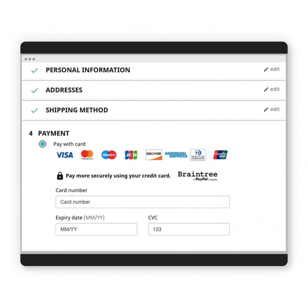 module - Zahlung per Kreditkarte oder Wallet - Braintree official - 2