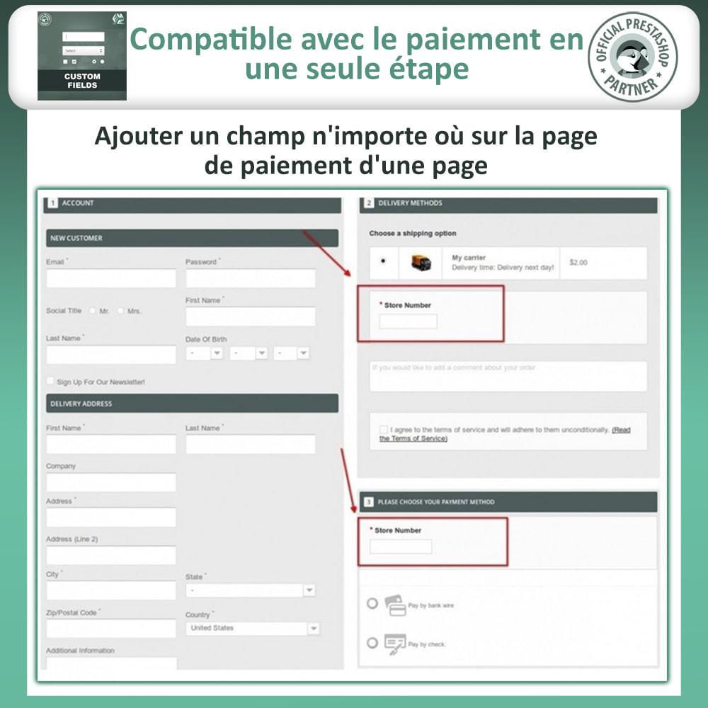 module - Inscription & Processus de commande - Champs paiement personnalisés, Ajouter des champs - 3