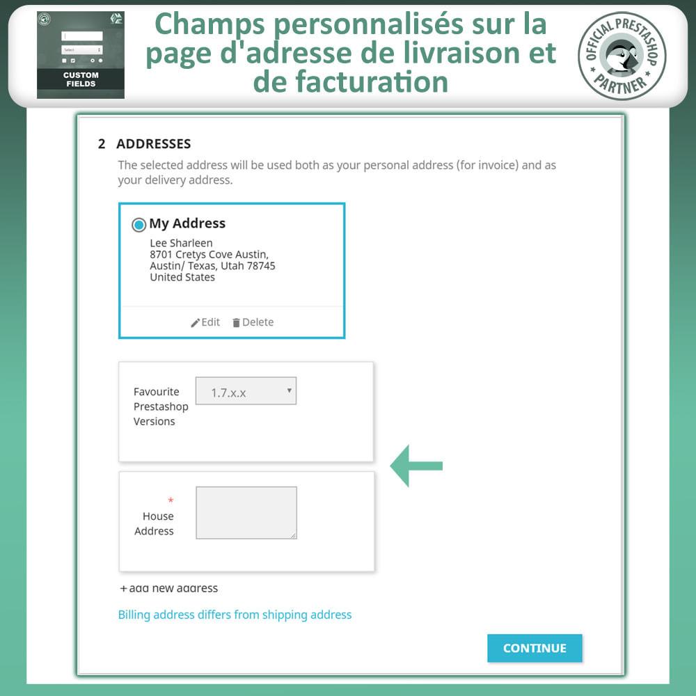 module - Inscription & Processus de commande - Champs paiement personnalisés, Ajouter des champs - 5