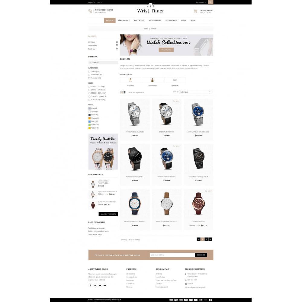 theme - Jewelry & Accessories - Wrist Timer - Watch Store - 3