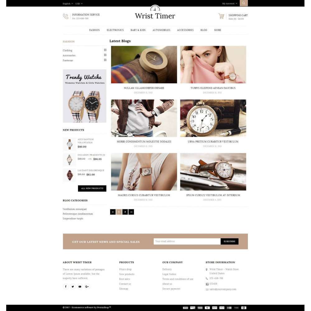 theme - Jewelry & Accessories - Wrist Timer - Watch Store - 9