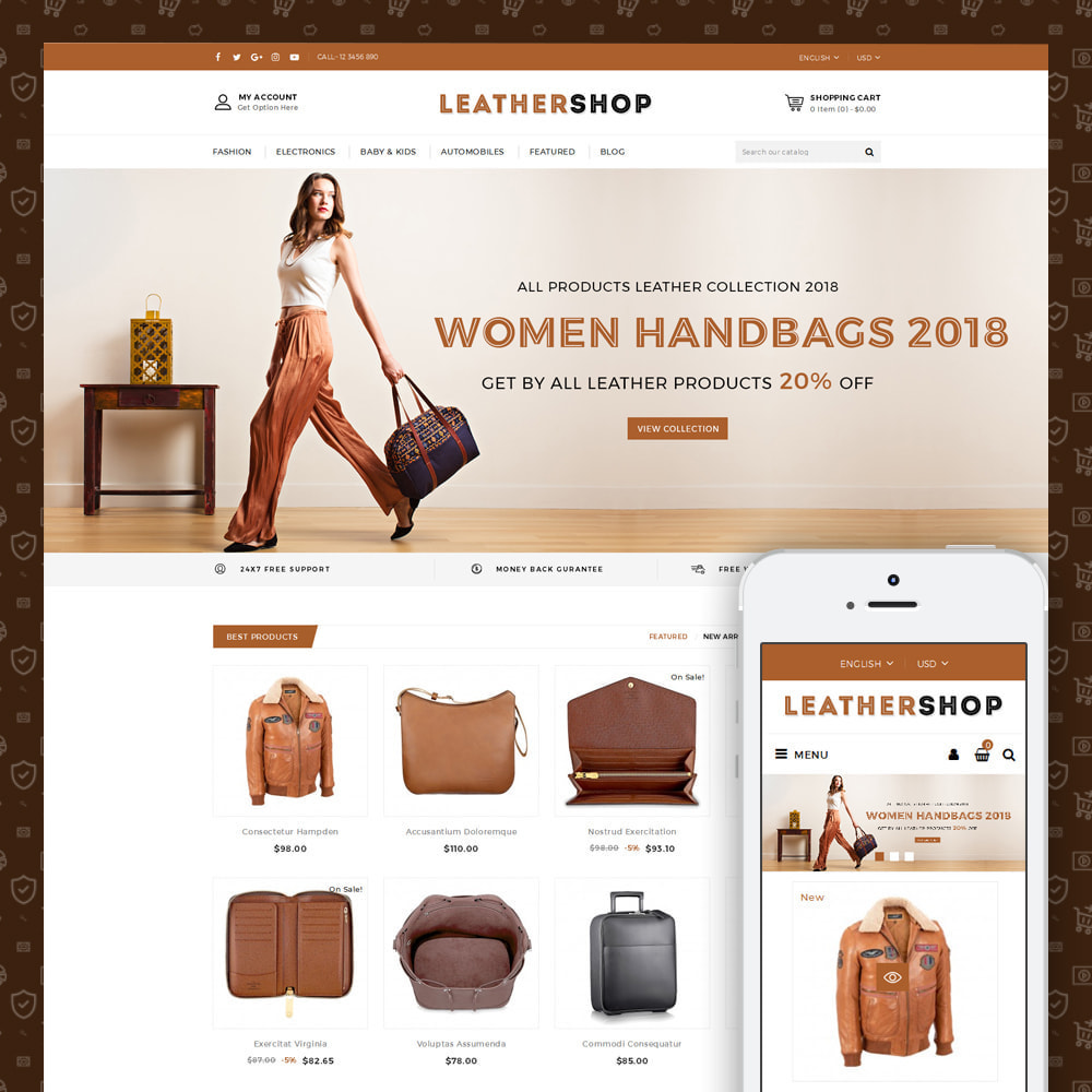theme - Jewelry & Accessories - Leather Store - 1