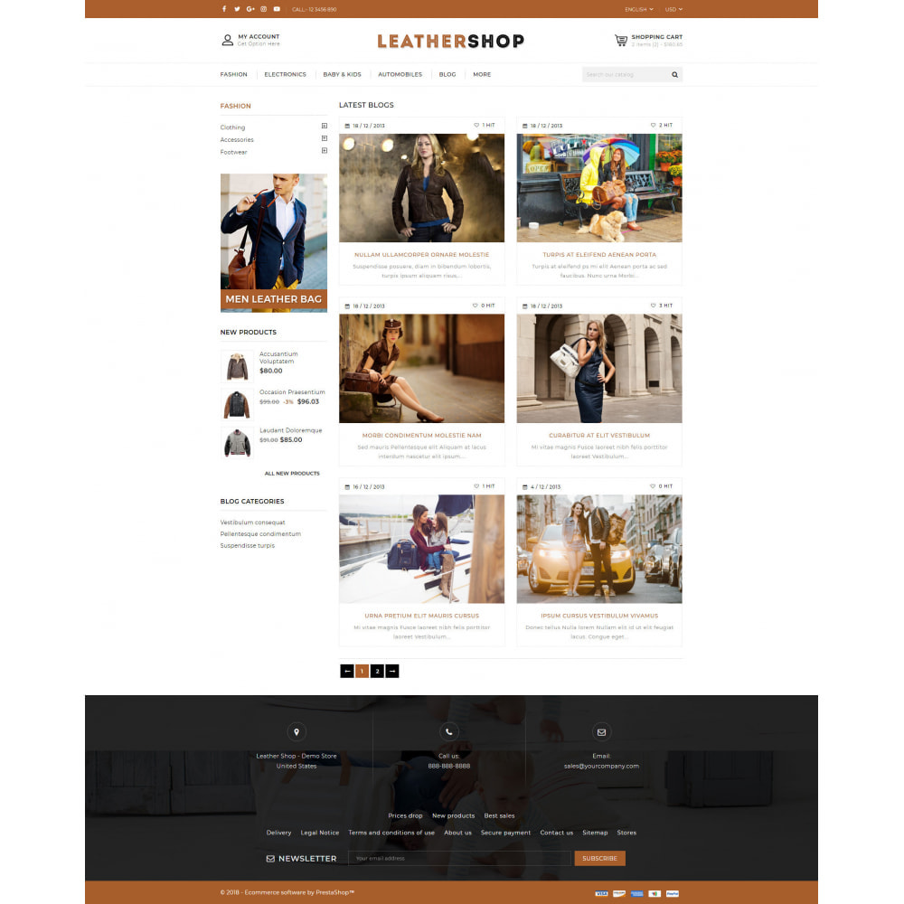theme - Jewelry & Accessories - Leather Store - 9