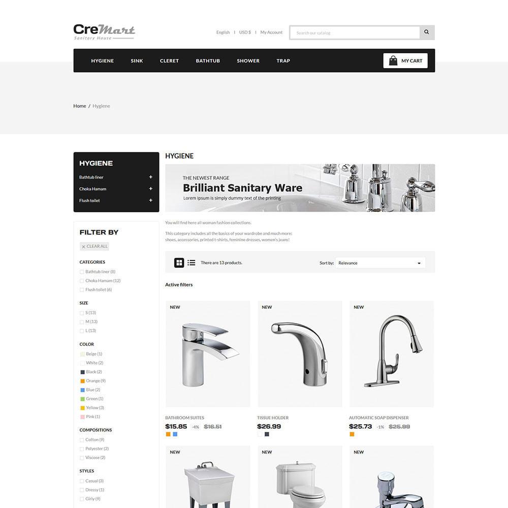 theme - Hogar y Jardín - Cremart Sanitary - Tienda de lavabos y fregaderos - 3