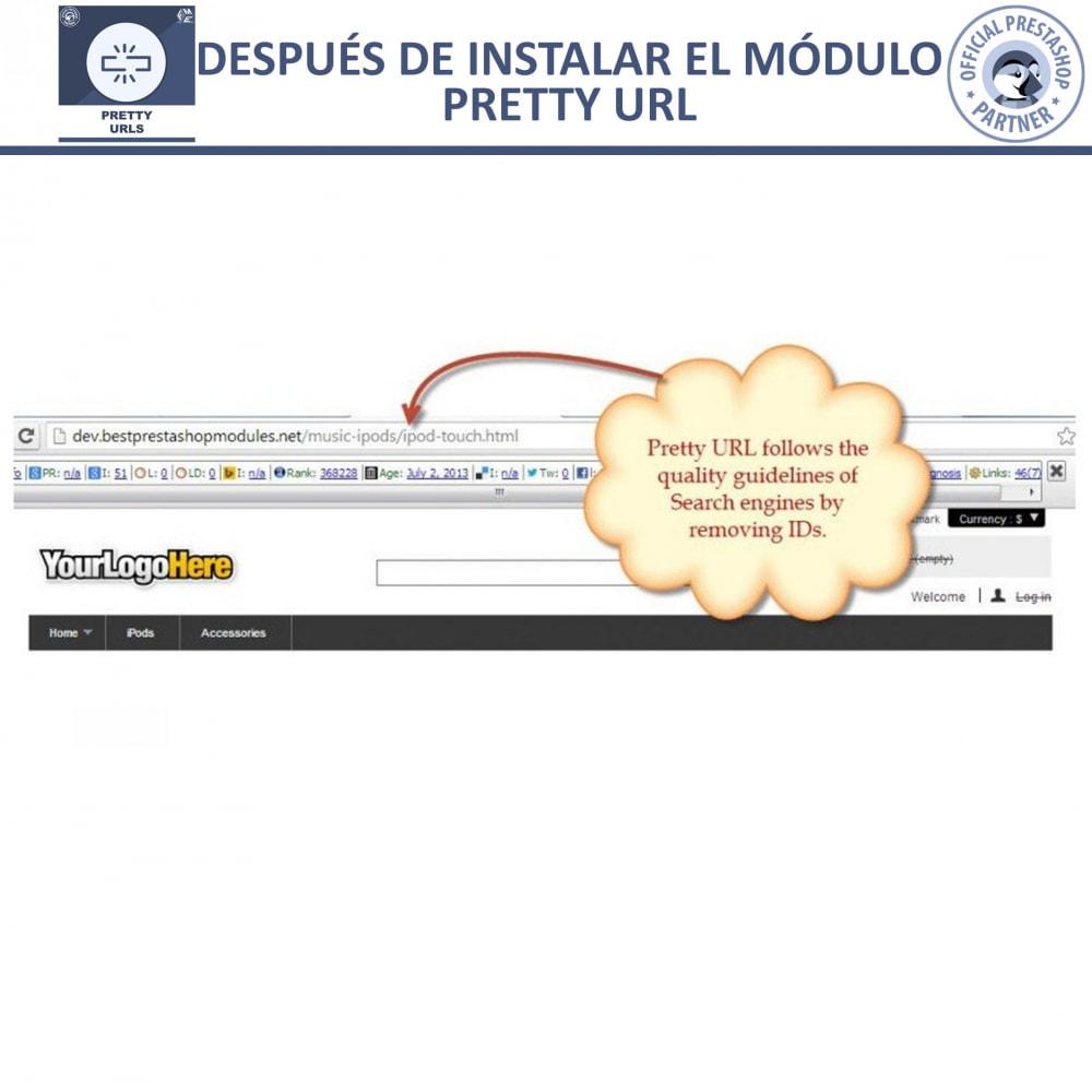module - URL y Redirecciones - Pretty URLs - Eliminar Ids y números desde de URL - 21