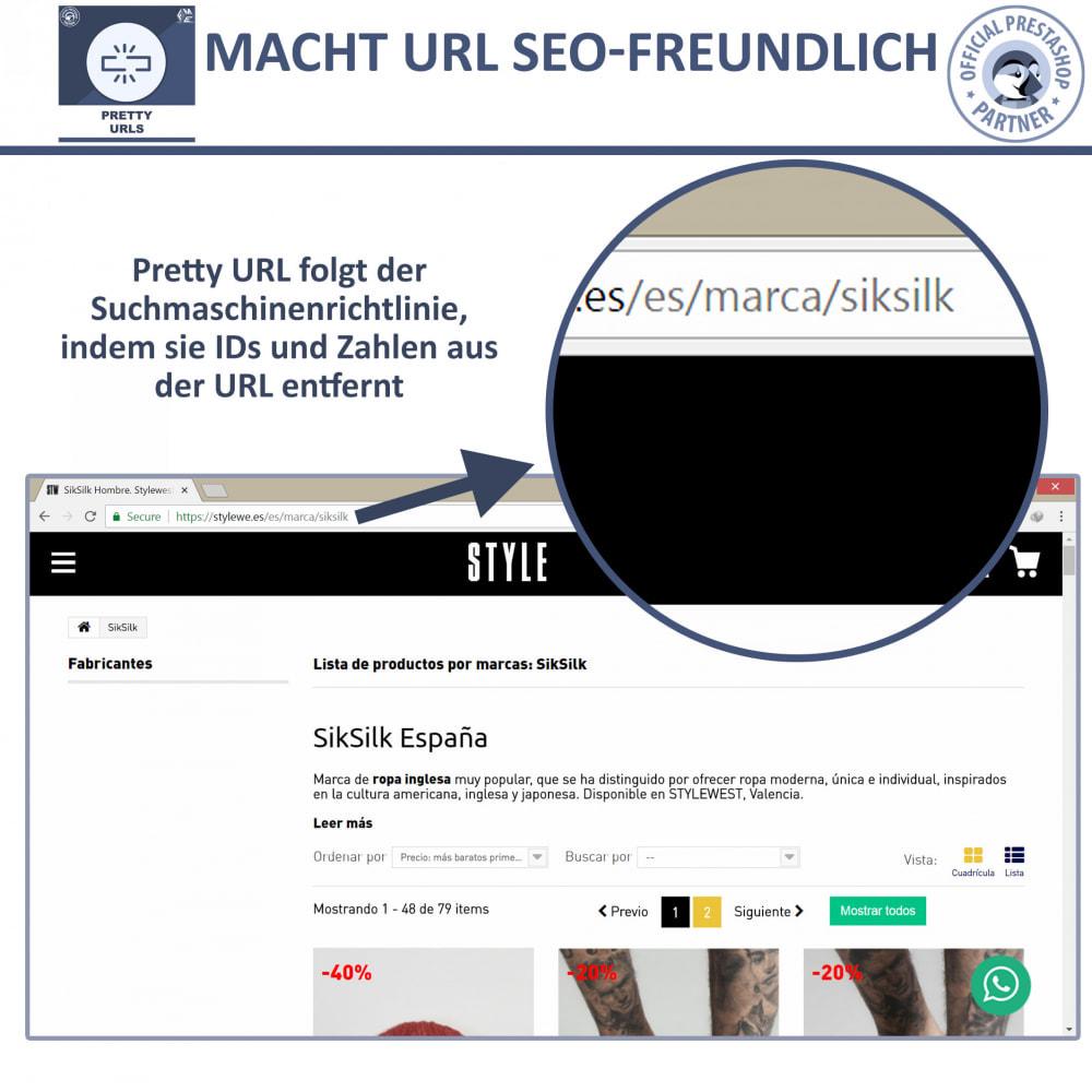 module - URL & Redirects - Pretty URLs – Entfernen Sie ID Nummern von der URL - 3