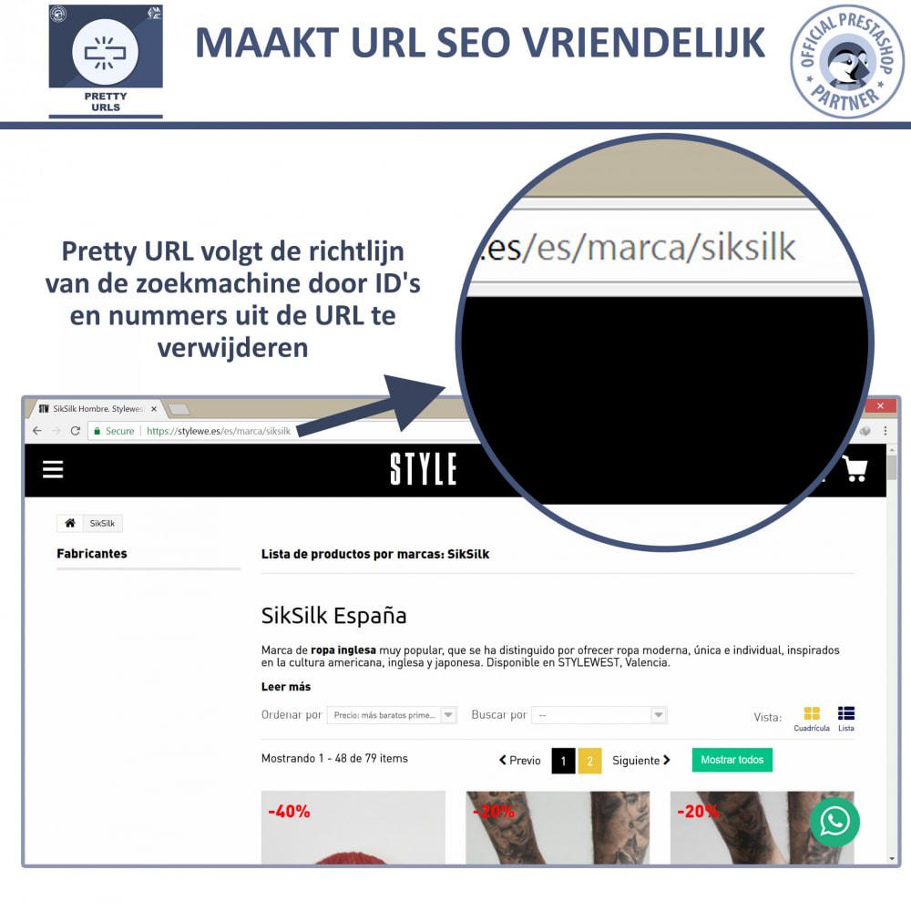 module - URL & Omleidingen - Pretty URL - Verwijder ID's en Nummers uit de URL - 3