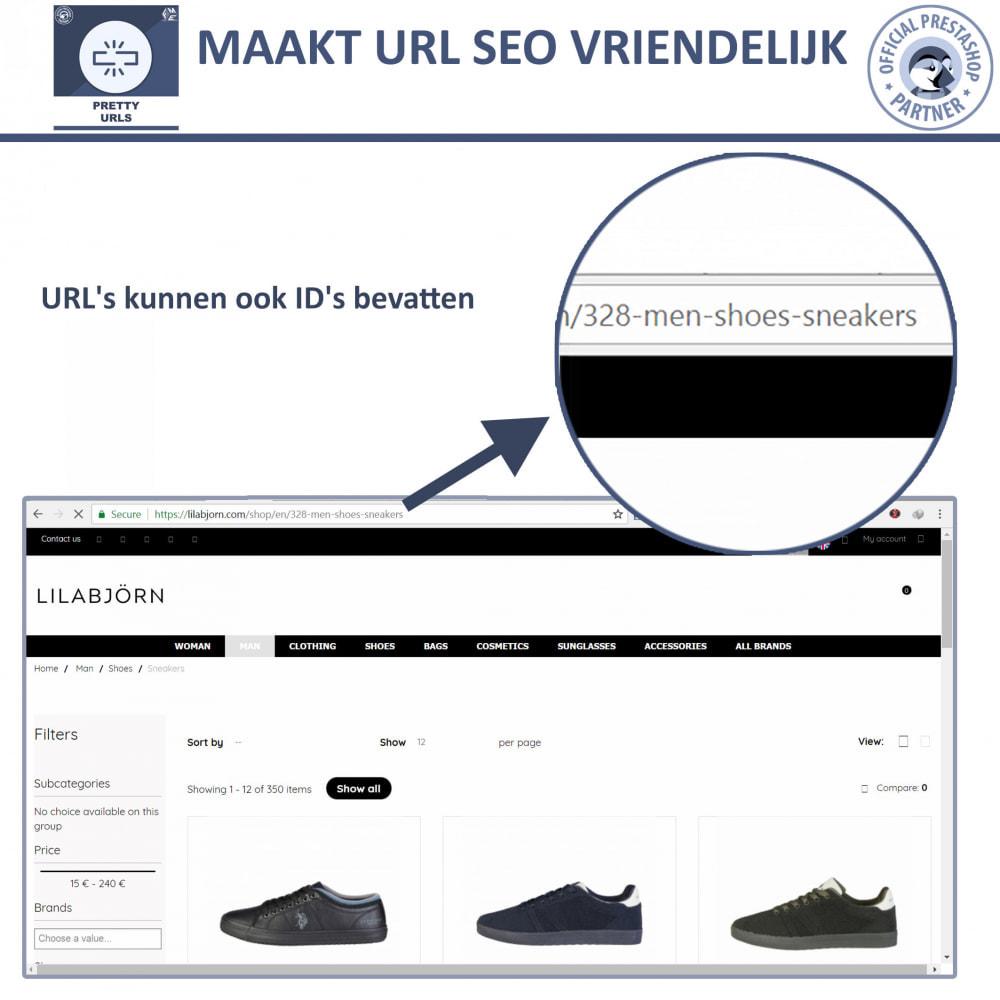 module - URL & Omleidingen - Pretty URL - Verwijder ID's en Nummers uit de URL - 4
