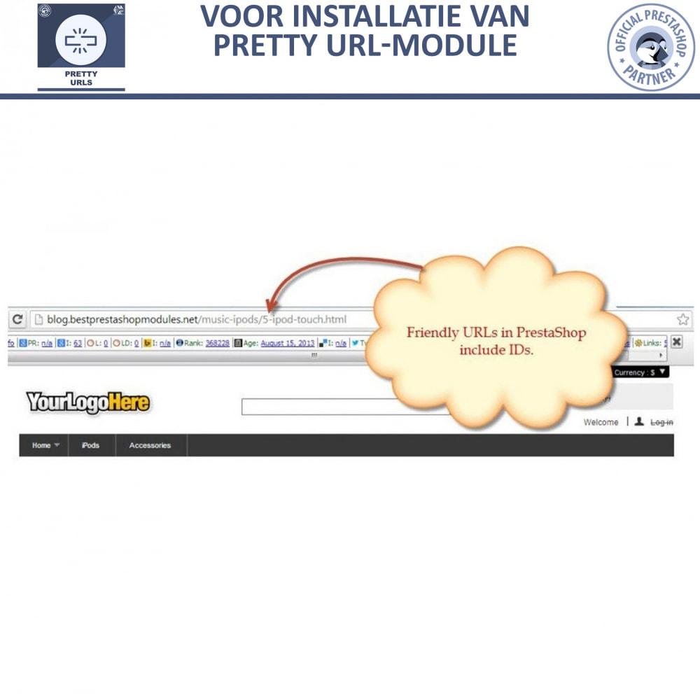 module - URL & Omleidingen - Pretty URL - Verwijder ID's en Nummers uit de URL - 11