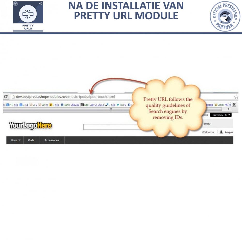 module - URL & Omleidingen - Pretty URL - Verwijder ID's en Nummers uit de URL - 12