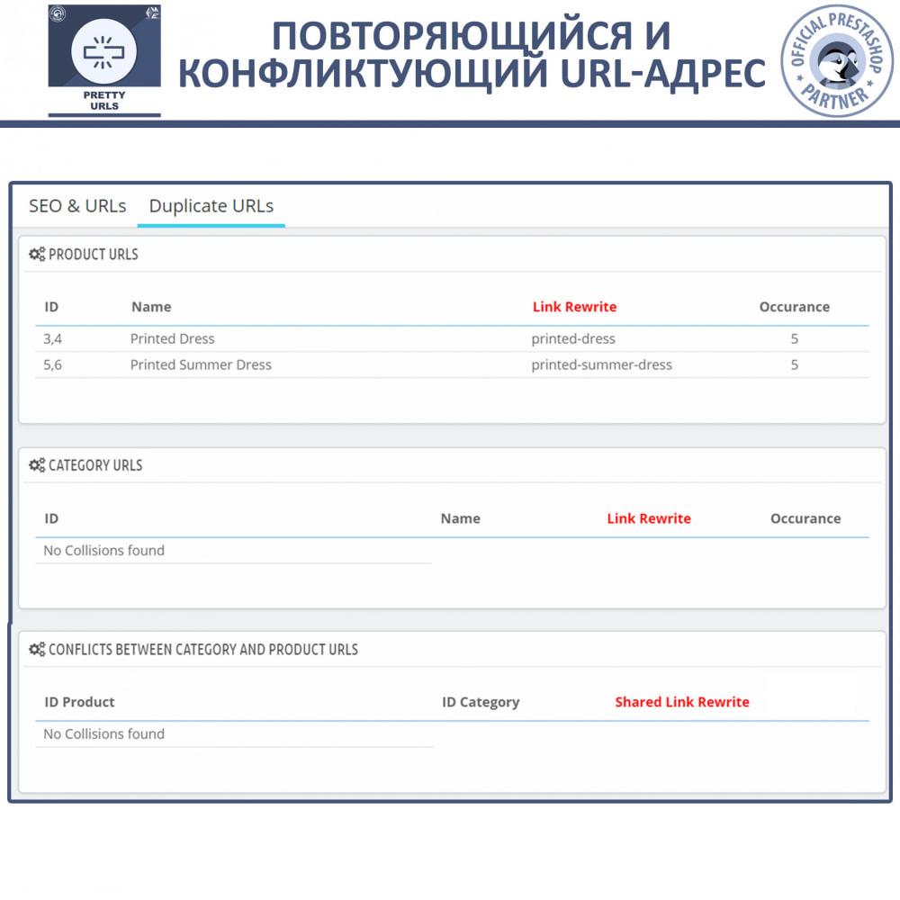 module - Управления адресами URL и перенаправлением - Pretty URL - удаление идентификаторов и номеров из URL - 9