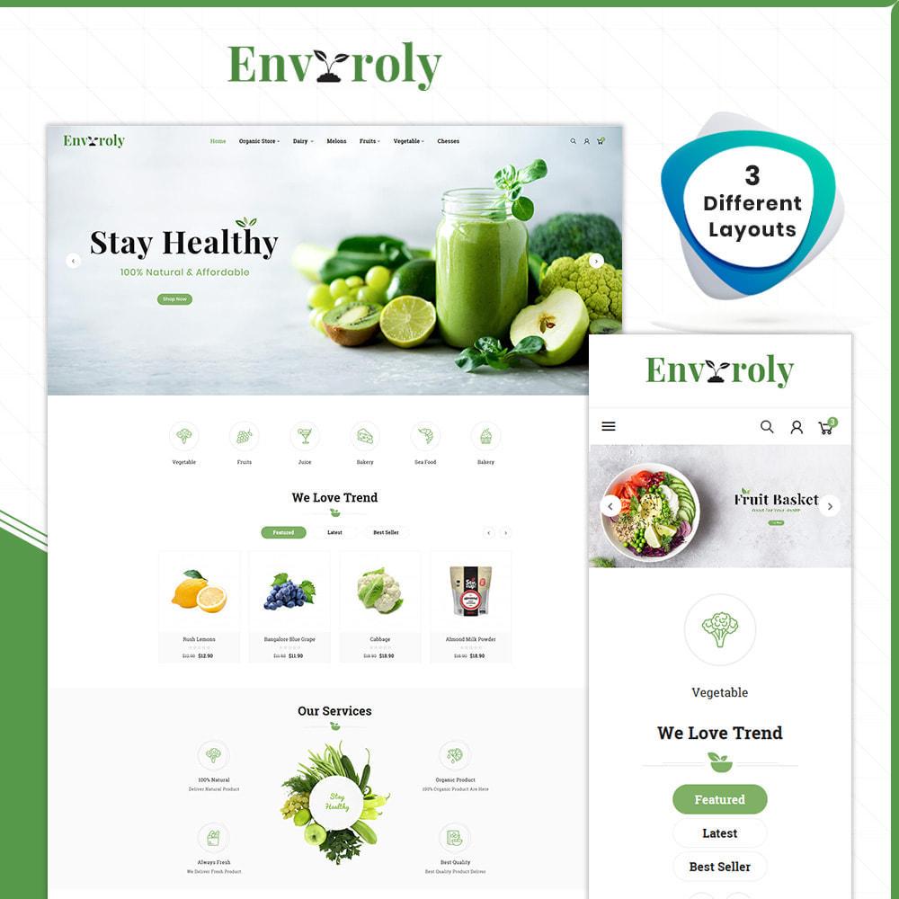 theme - Żywność & Restauracje - Envioly Grocery –Organic Store - 1