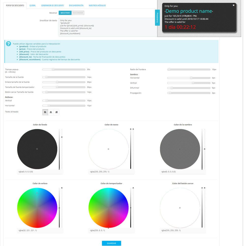 module - Ventas Privadas y Ventas Flash - Descuento automático para cada usuario - 3