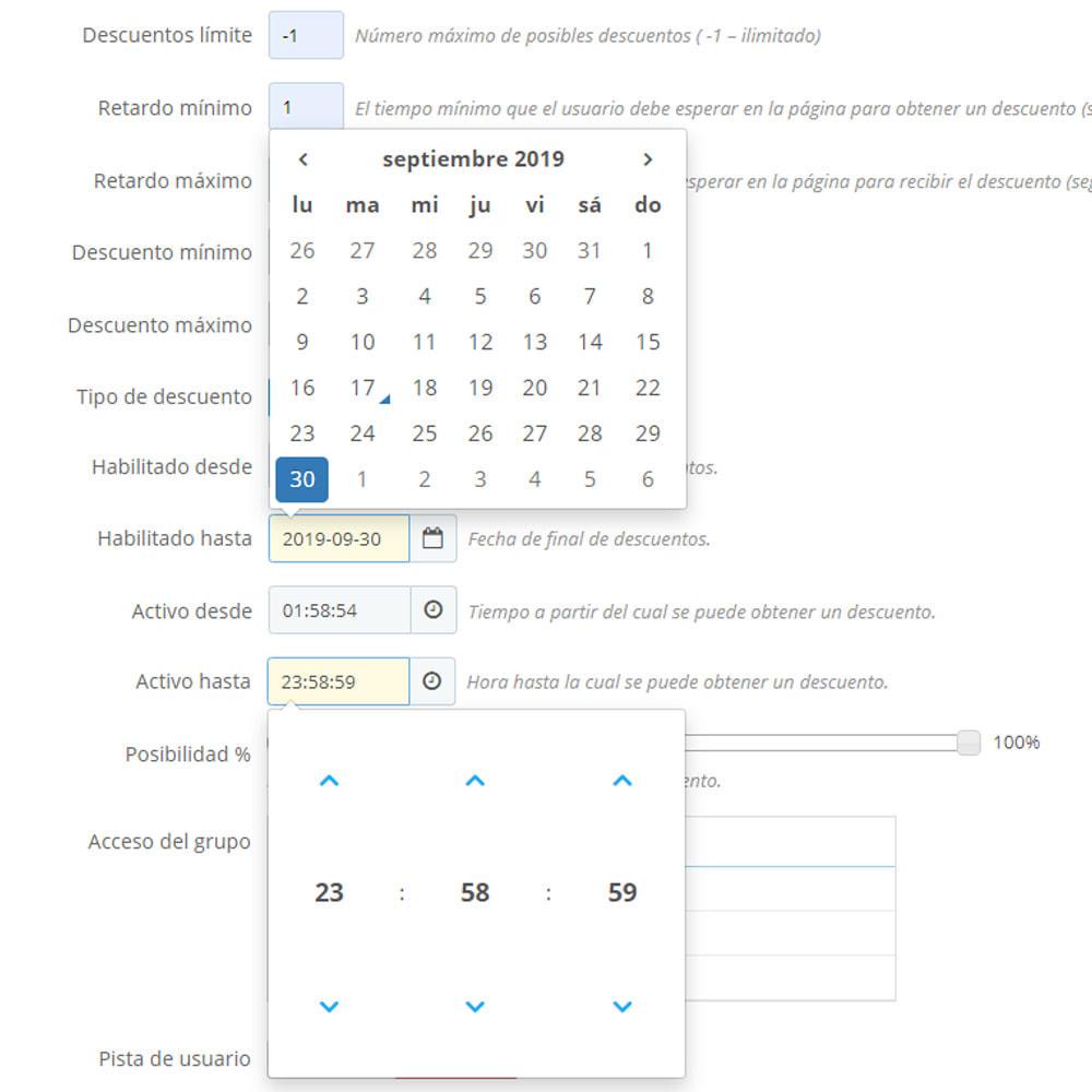 module - Ventas Privadas y Ventas Flash - Descuento automático para cada usuario - 6