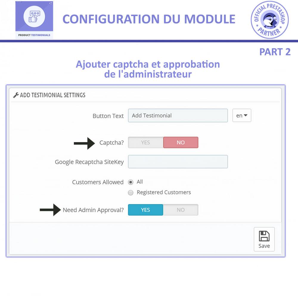 module - Avis clients - Revues de Produits + Témoignages de Magasins - 9