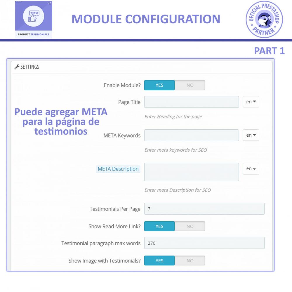 module - Comentarios de clientes - Opiniones Productos + Reseñas de la tienda - 8