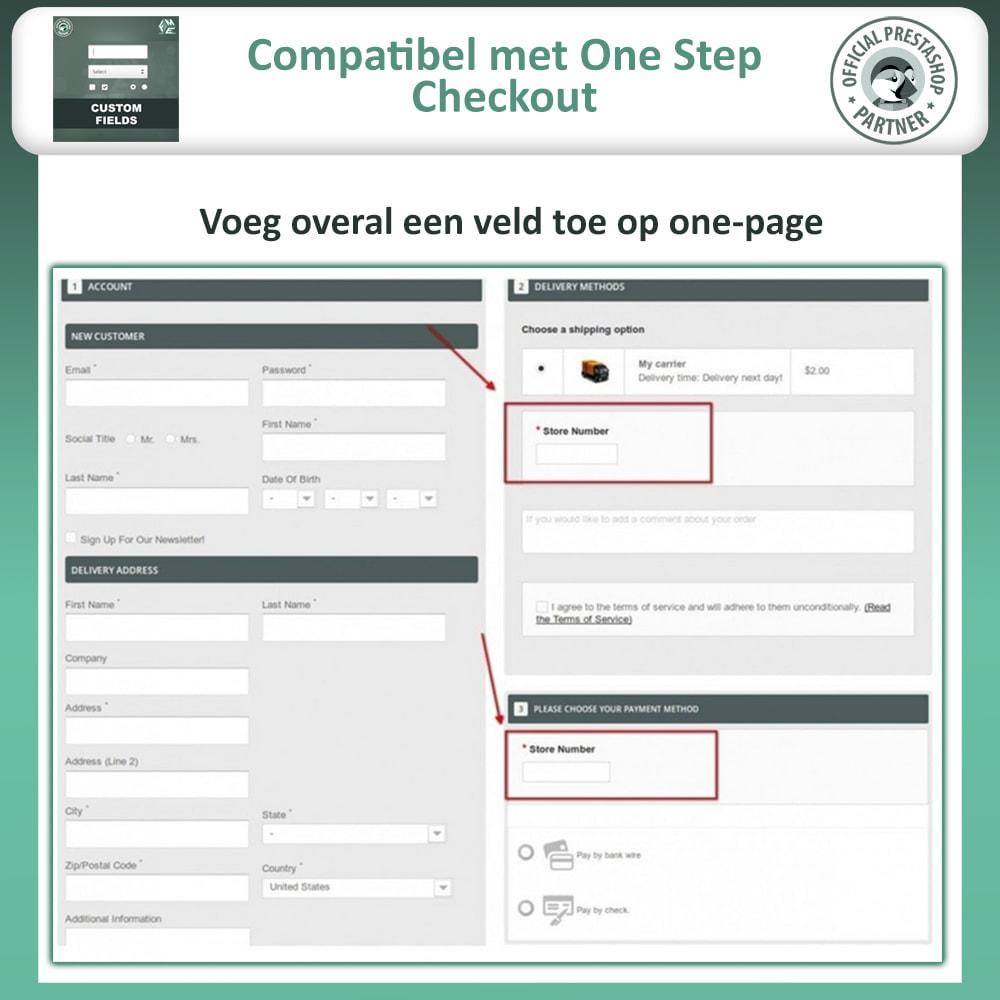 module - Registratie en Proces van bestellingen - Aangepaste Velden: Voeg extra veld toe aan uitchecken - 3