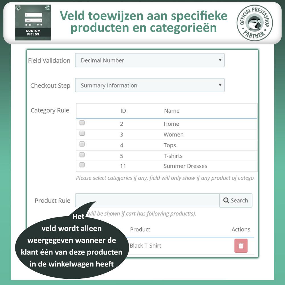 module - Registratie en Proces van bestellingen - Aangepaste Velden: Voeg extra veld toe aan uitchecken - 11