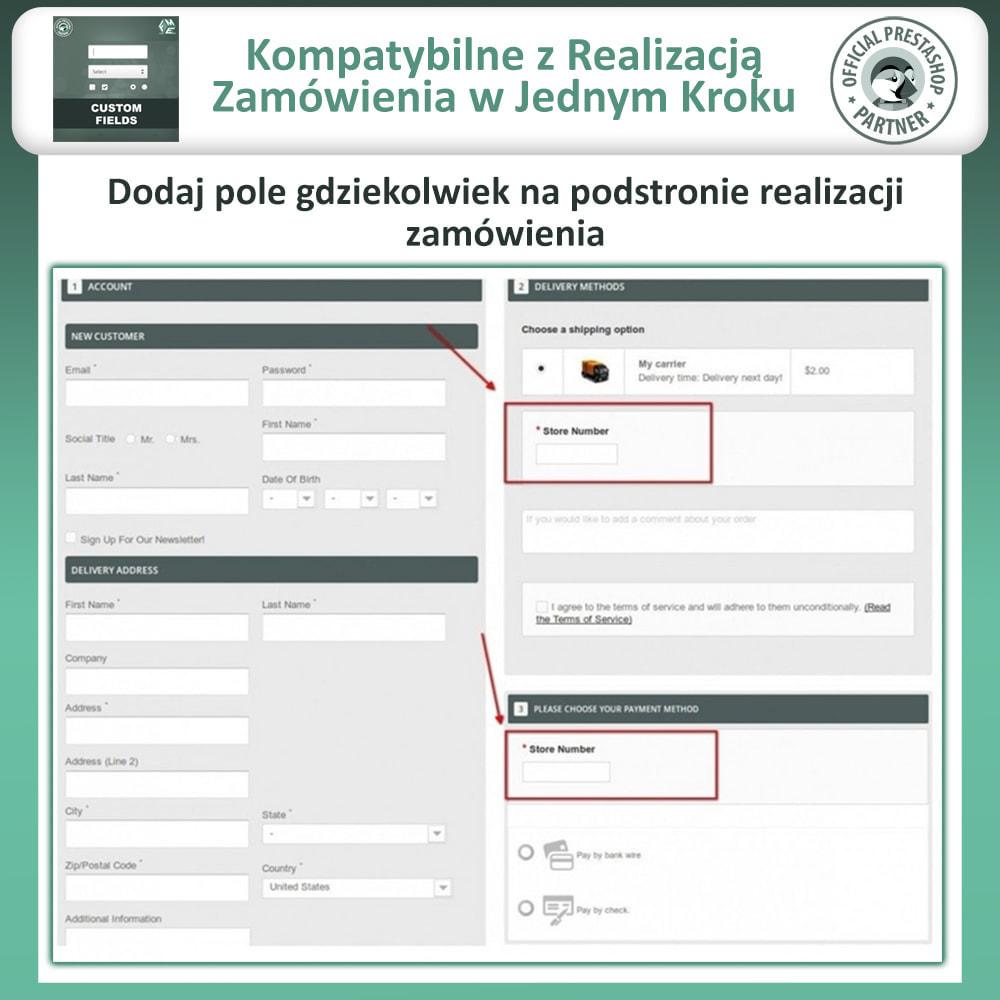 module - Procedury składania zamówień - Dodaj Dodatkowe Pole na Stronie Zamówienia (Checkout) - 3