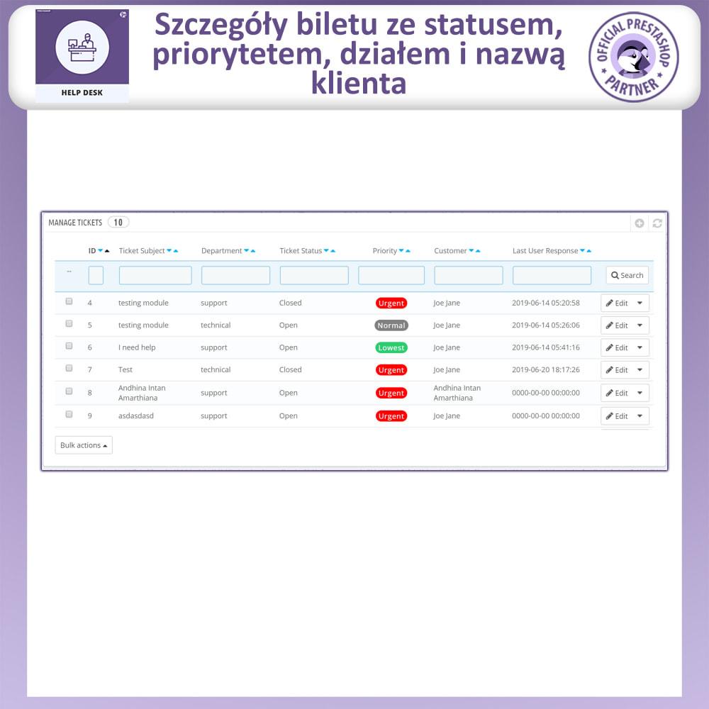module - Serwis posprzedażowy - Centrum Pomocy – Systemu Zarządzania Obsługą - 8