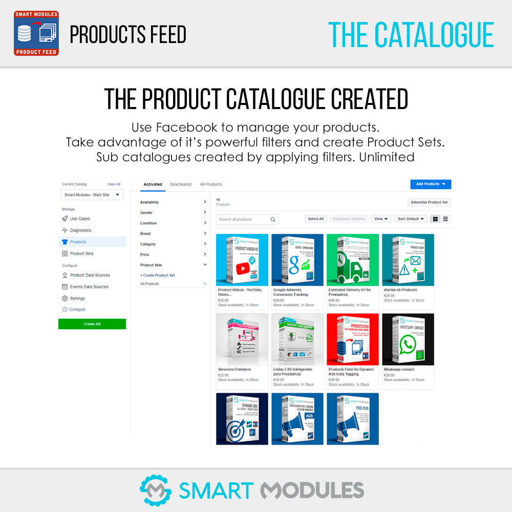 module - SEA SEM (paid advertising) & Affiliation Platforms - Products Feed: Dynamic Ads & Shop & Tagging - 7