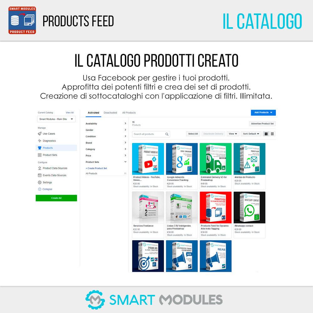 module - Indicizzazione a pagamento (SEA SEM) & Affiliazione - Feed di Prodotti: Pubblicità Dinamica & Tag & Shop - 7